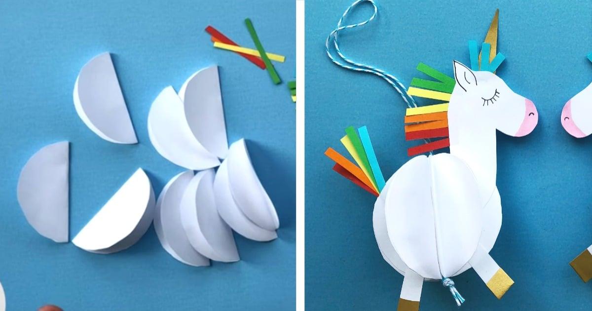 paper unicorn crafts