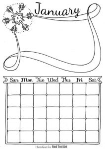 Free Cute Printable Calendar 2018 - Red Ted Art's Blog