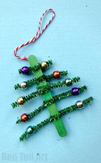 Pipecleaner Christmas Tree Ornaments - Red Ted Art's Blog