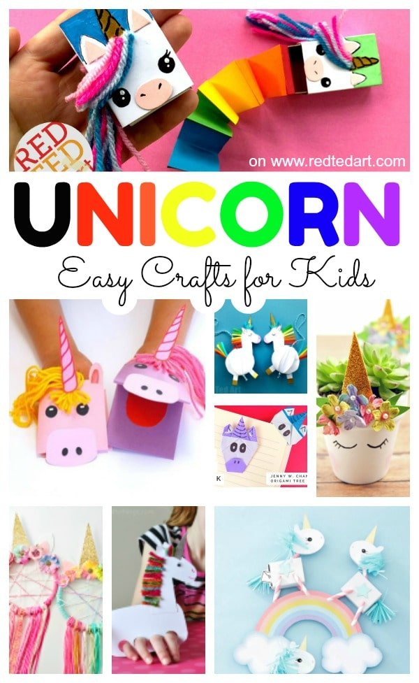 Easy Unicorn Crafts Red Ted Art Make Crafting With Kids Easy Fun