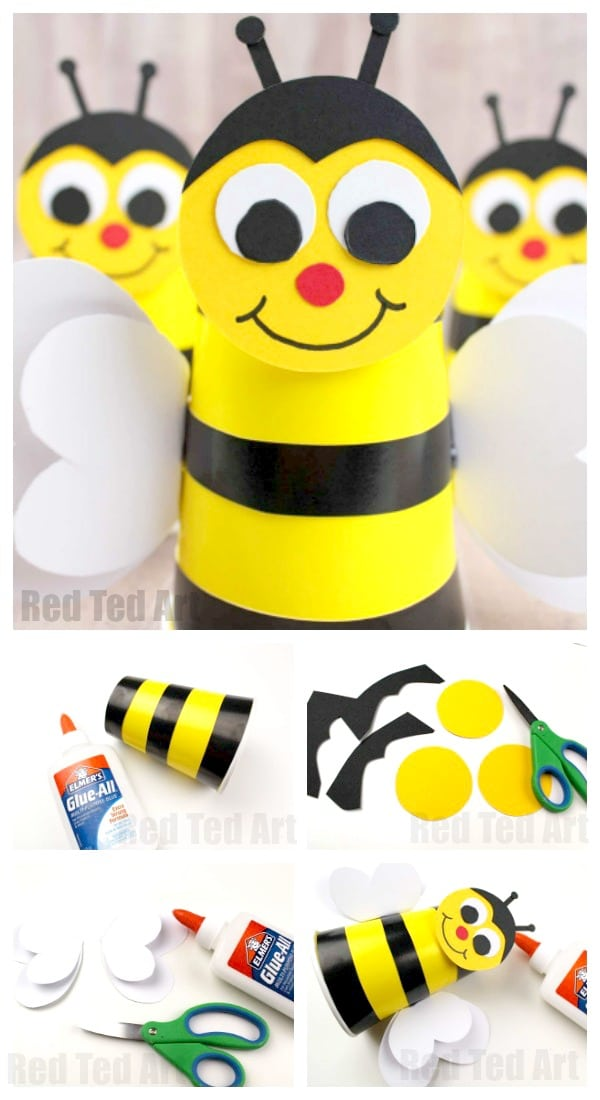 bee cup craft for