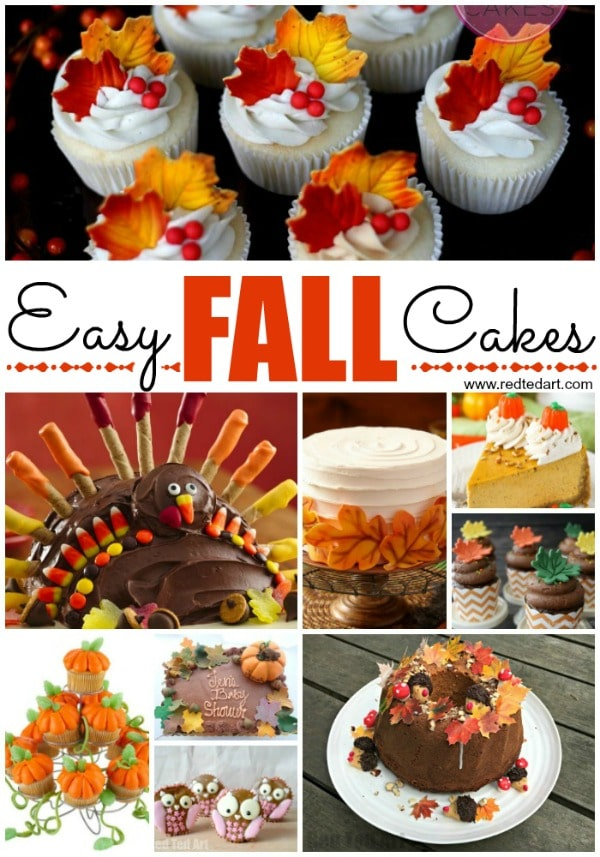 Easy Fall Cake Decorating Ideas Red Ted Art