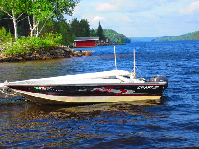 Red Top Inn Boat Rentals On Tupper Lake 10hp To 25hp Aluminum Boat