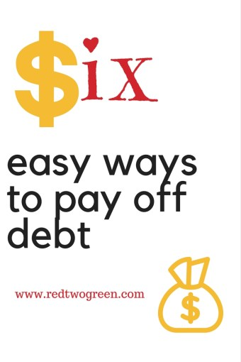 6 easy ways to pay off debt