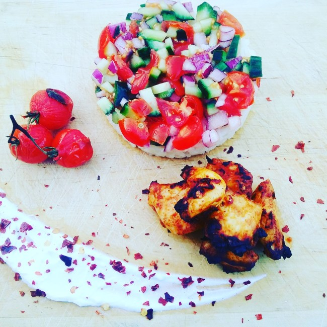 imagelow fat healthy chicken kebabs