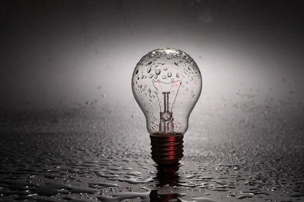 Broken Light Bulb Mercury