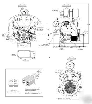 Generac 40HP horizontal shaft engine