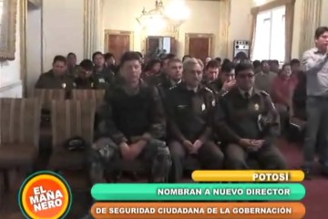 POSESIÓN DEL NUEVO DIRECTOR DE SEGURIDAD CIUDADANA DE POTOSÍ