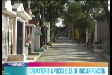 CREMATORIO DE TARIJA A POCOS DÍAS DE INICIAR FUNCIÓN
