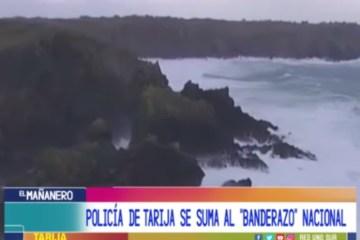 """LA POLICÍA DE TARIJA SE SUMA AL """"BANDERAZO"""" NACIONAL"""