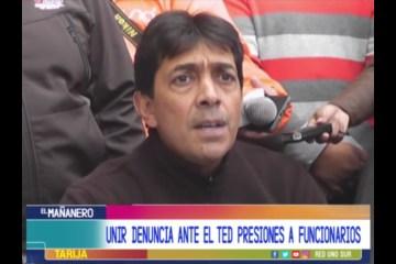 UNIR DENUNCIA ANTE EL TED PRESIONES A FUNCIONARIOS