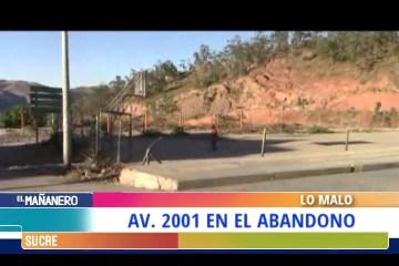 LO MALO: AVENIDA 2001 EN EL ABANDONO