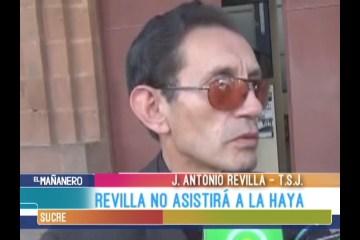 REVILLA NO ESTARÁ EN LA HAYA
