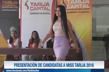 PRESENTACIÓN  DE CANDIDATAS A MISS TARIJA 2018