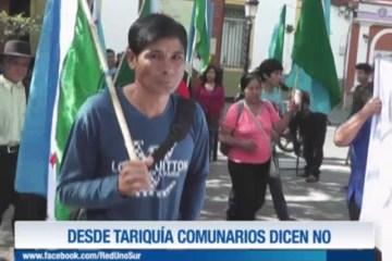 DESDE TARIQUÍA COMUNARIOS DICEN NO