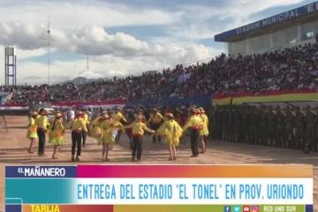 """ENTREGA DEL ESTADIO """"EL TONEL"""" EN LA PROVINCIA URIONDO"""