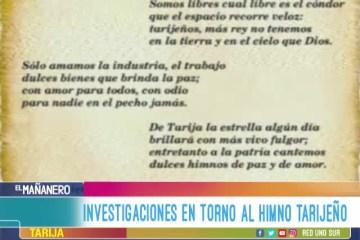 INVESTIGACIONES EN TORNO AL HIMNO DE TARIJA
