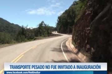 EL TRANSPORTE PESADO NO FUE INVITADO A INAUGURACIÓN