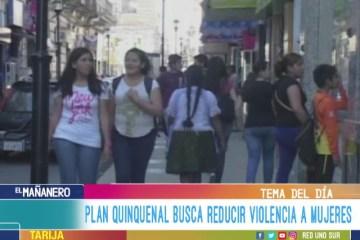TEMA DEL DÍA: PLAN QUINQUENAL BUSCA REDUCIR VIOLENCIA A MUJERES