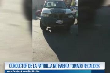 CONDUCTOR DE LA PATRULLA NO HABRÍA TOMADO RECAUDOS