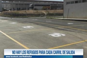 NO HAY LOS REFUGIOS PARA CADA CARRIL DE SALIDA