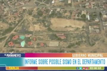 INFORME DE POSIBLE SISMO EN EL DEPARTAMENTO DE TARIJA