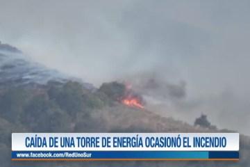 LA CAÍDA DE UNA TORRE DE ENERGÍA OCASIONÓ EL INCENDIO