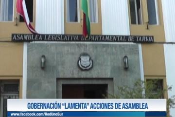 """GOBERNACIÓN """"LAMENTA"""" ACCIONES DE ASAMBLEA"""
