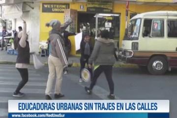 EDUCADORAS URBANAS SIN TRAJES EN LAS CALLES