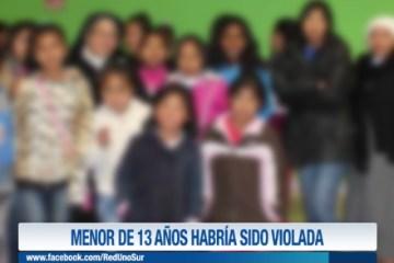 MENOR DE 13 AÑOS HABRÍA SIDO VIOLADA