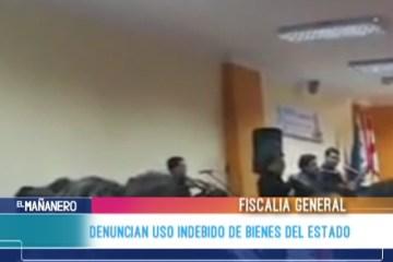 DENUNCIAN USO INDEBIDO DE BIENES DEL ESTADO
