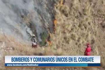 BOMBEROS Y COMUNARIOS ÚNICOS EN EL COMBATE