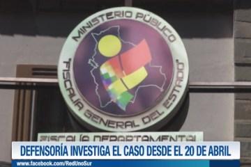 DEFENSORÍA INVESTIGA EL CASO DE VIOLACIÓN DESDE EL 20 DE ABRIL