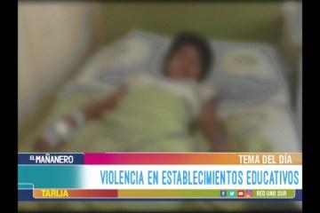 TEMA DEL DÍA: VIOLENCIA EN ESTABLECIMIENTOS EDUCATIVOS