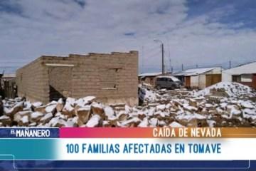 100 FAMILIAS AFECTADAS EN TOMAVE