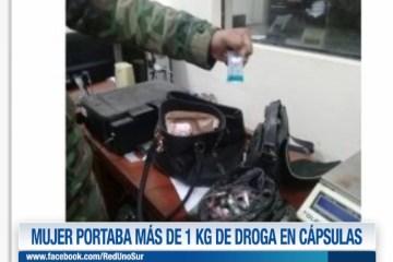 MUJER PORTABA MÁS DE 1 KG DE DROGA EN CAPSULAS