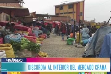 DISCORDIA AL INTERIOR DEL MERCADO CRAMA