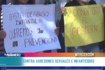 MOVILIZACIÓN CONTRA AGRESIONES SEXUALES E INFANTICIDIOS