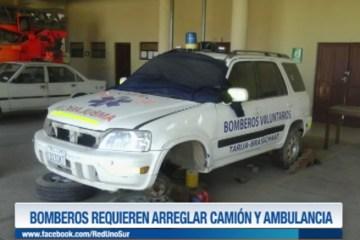 BOMBEROS REQUIEREN ARREGLAR CAMIÓN Y AMBULANCIA