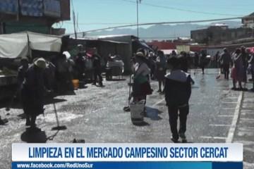 LIMPIEZA EN EL MERCADO CAMPESINO SECTOR CERCAT