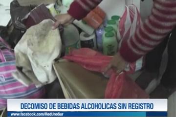 DECOMISO DE BEBIDAS ALCOHÓLICAS SIN REGISTRO