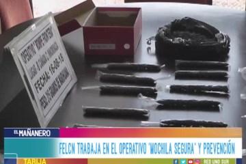 """FELCN TRABAJA EN EL OPERATIVO """"MOCHILA SEGURA"""" Y PREVENCIÓN"""