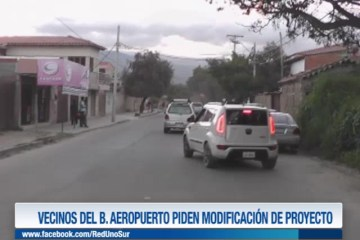 VECINOS DEL BARRIO AEROPUERTO PIDEN MODIFICACIÓN DE PROYECTO