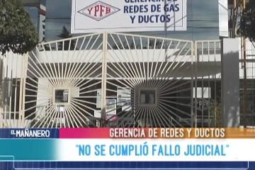 """""""NO SE CUMPLIÓ FALLO JUDICIAL"""""""