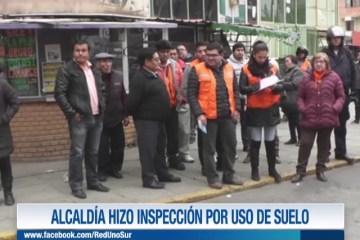 ALCALDÍA HIZO INSPECCIÓN POR USO DE SUELO