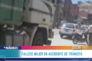 FALLECE MUJER EN ACCIDENTE DE TRÁNSITO