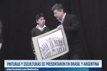PINTURAS Y ESCULTURAS SE PRESENTARON EN BRASIL Y ARGENTINA