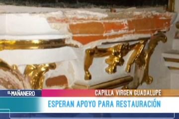 ESPERAN APOYO PARA RESTAURACIÓN
