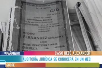 AUDITORIA JURÍDICA AL CASO ALEXANDER SE CONOCERÁ EN UN MES