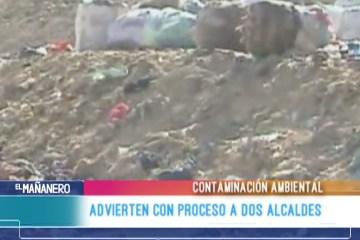 ADVIERTEN CON PROCESO A DOS ALCALDES
